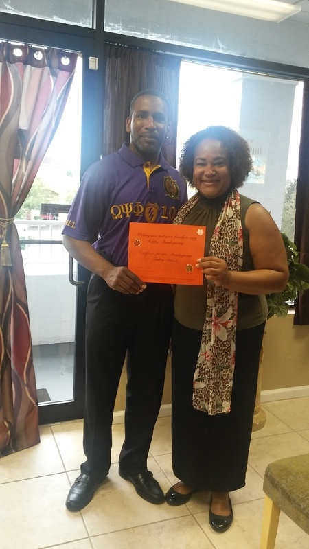 Coty Tuggle of Iota Mu Nu Chapter of Omega Psi Phi Fraternity, Inc.